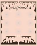Chocolat de certificat Photos stock