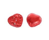Chocolat de coeur d'isolement sur le blanc Photos libres de droits