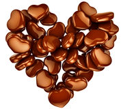 Chocolat de forme de coeur comme cadeau pour la Saint-Valentin Photographie stock libre de droits