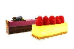 chocolat de fromage de gâteau de myrtille Photos libres de droits