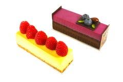 chocolat de fromage de gâteau de myrtille Images libres de droits