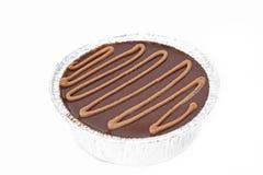 Chocolat de gâteau d'isolement Photos stock