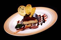 Chocolat de gâteau de dessert Photographie stock