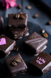 Chocolat de luxe fait main Photographie stock libre de droits