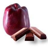 Chocolat de noair de petit morceau d'Apple Photo libre de droits