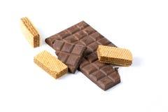 Chocolat de noir de biscuit de gaufrette Image stock