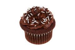 Chocolat de petit gâteau d'isolement Photos stock