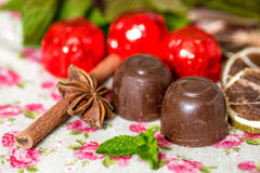 Chocolat de plan rapproché Photos libres de droits