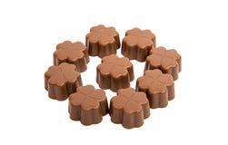 chocolat de sucreries d'isolement Photographie stock