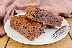 Chocolat de tarte dans le plat à bord Photos libres de droits