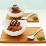 Chocolat del au de la crema batida Imagenes de archivo
