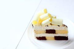 Chocolat del blanco de la torta Fotografía de archivo