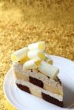 Chocolat del blanco de la torta Foto de archivo