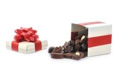 Chocolat différent dans le cadre Photographie stock libre de droits
