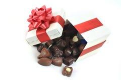 Chocolat différent dans le cadre Photos stock