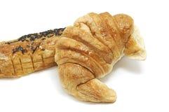 Chocolat do Croissant e do au da dor Imagem de Stock