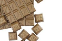 Chocolat du lait sur le blanc Images libres de droits
