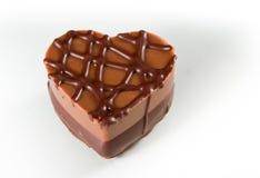 Chocolat en forme de coeur Photographie stock libre de droits