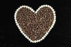 Chocolat en forme de coeur Photo stock