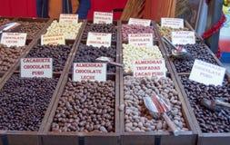Chocolat et dragées à la gelée de sucre Image libre de droits