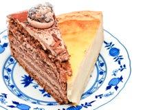 Chocolat et gâteau au fromage photos stock
