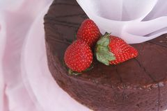 Chocolat et gâteau de fruits images libres de droits