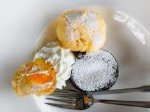 Chocolat et glace à la vanille Photo stock