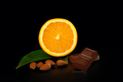 Chocolat et ingrédients Photo stock