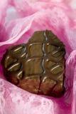 Chocolat et lacet Images stock