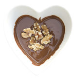 Chocolat et noix du coeur I Photos libres de droits