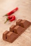 Chocolat et /poivron Photographie stock libre de droits