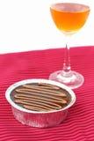Chocolat et vin de gâteau Photo stock