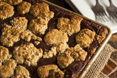 Chocolat fait maison Revel Brownie Bars image stock