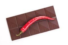 Chocolat foncé de /poivron Photos libres de droits