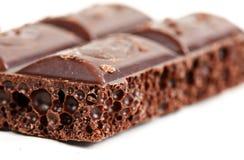 Chocolat foncé poreux Images libres de droits