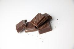 Chocolat foncé sur le fond blanc Photo libre de droits