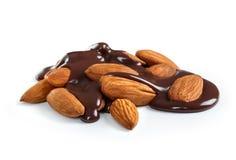 Chocolat fondu chaud de versement image libre de droits