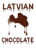 Chocolat letton Contour conceptuel de la Lettonie photo stock