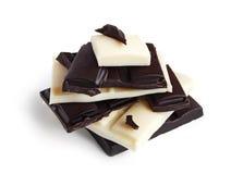 Chocolat noir et blanc photos stock