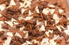 Chocolat noir et blanc Images libres de droits