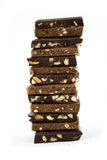 Chocolat noir et laiteux Image stock