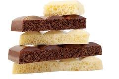 Chocolat poreux noir et blanc Image libre de droits