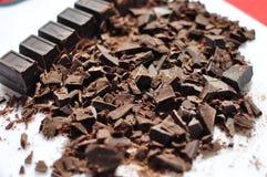 Chocolat semi sucré coupé Photo stock