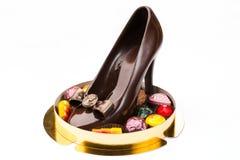 Chocolat sous forme de chaussures Photos stock