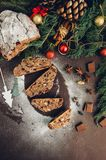Chocolat Stollen Images libres de droits
