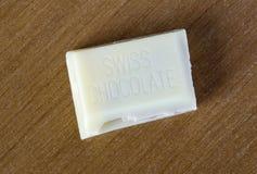 Chocolat suisse blanc Photos libres de droits