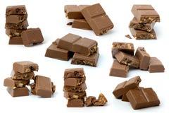 Chocolat sur le fond blanc Image libre de droits