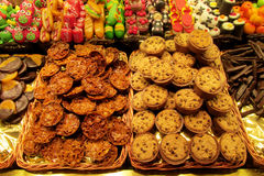 Chocolat, sweets and cookies at the market Stock Photos