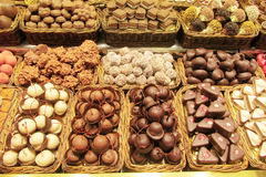 Chocolat sweets sold at the market Royalty Free Stock Images