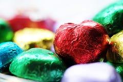 Chocolat Valentine de coeur d'amour dans la couleur douce Photo libre de droits